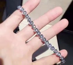 Single Line Round Moissanite Bracelet