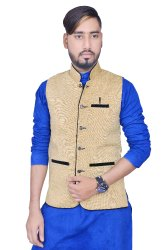 Cotton Blend Men b Meyar Nehru Jack Waistcoat For Party And Regular Wearing, Size: 34 36 38 40 42 44