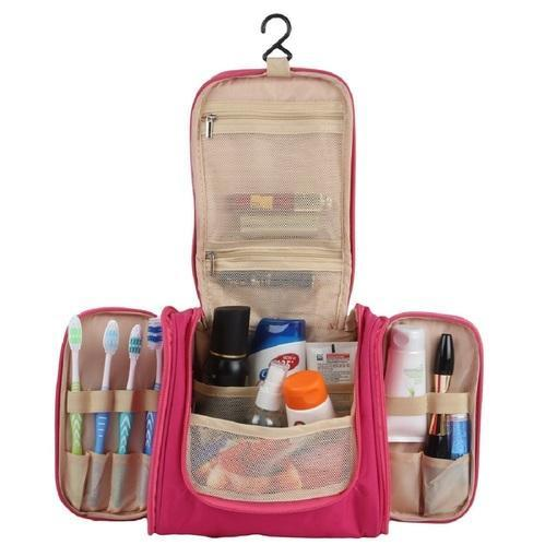 e65dcc27f7 Blue And White Travel Toiletry Bag Cum Cosmetic Organizer With Cosmetic  Pouch