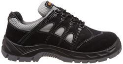 Honeywell DD PU Safety Shoe, Silver Sportz, Black and Grey Suede Leather