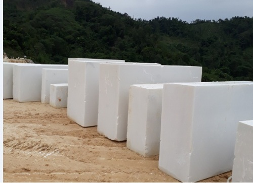 Vietnam Marble Blocks Vietnam Super Snow White Marble