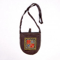 Brown Handicraft Sling Bag