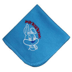 Baby Looney Tunes Face Napkins With Embroidery