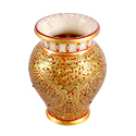 Marble Pot With Fine Gold Work