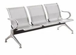 Mild Steel Three Seater Airport Chairs (Waiting Area Chairs) Stainless Steel Three Seater