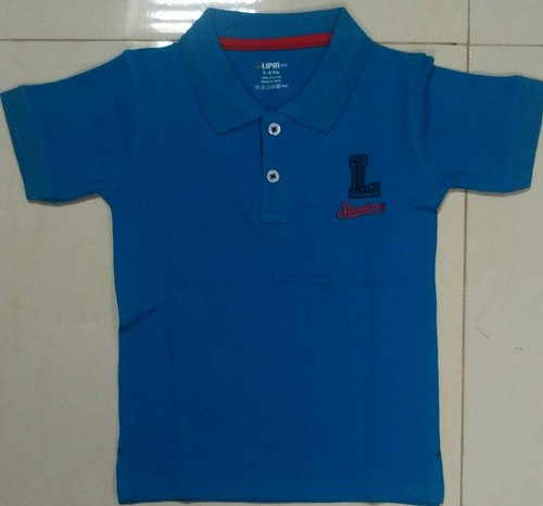 Kids Polo Logo Print T Shirt