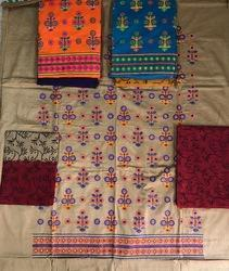 Cotton Embroidered Unstitched Dress Material