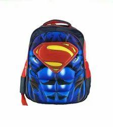 Super Man Printed School Bags