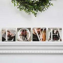 Personalized Photo Shelf Blocks- Set of 4