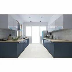 Parallel Shaped PVC Modular Kitchen