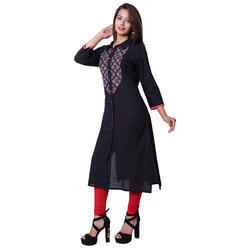 Cotton-embroidery kurtis
