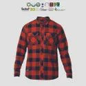 GRS recycle cotton Mens flannel Shirts