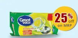 300 Gm Great Value Dish Wash Bar