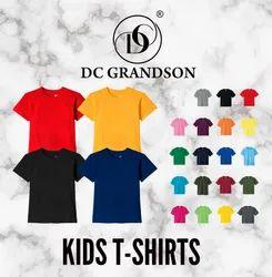 Round Half Sleeves Kids Plain T Shirts