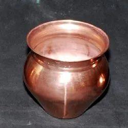 Plain Copper Gadwa Lota, Size: 4 Inch