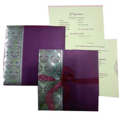 Royal Pull-Out Insert Christian Wedding Invitation Card