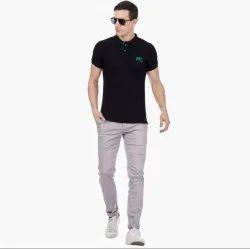 Plain Chinos Mens Cotton Casual Trouser