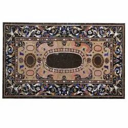 Indian Inlay Marble Table Top, Italian Stone Coffee Table