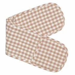 Cotton Checked Double Oven Gloves