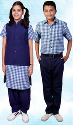 Summer Cotton Kids School Uniform