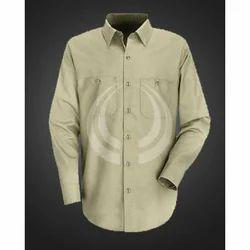 Plain Cotton Men's Full Sleeve Shirt