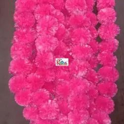 Hot pink artificial marigold flower Garland