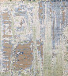 Modern Rugs Bamboo Wool Silk Oxidized Area Rugs