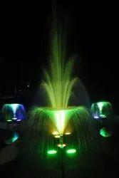 Brass, S.S Multicolor Flower Fountain