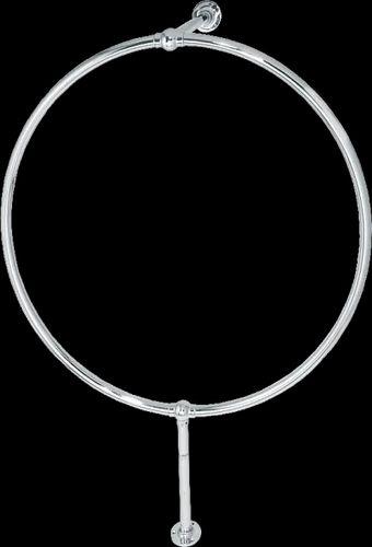 Srijan Round Shape Traditional Chrome Plated Shower Curtain Rail