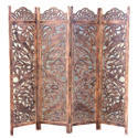 Brown Folding Wooden Screen