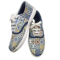 Casual Wear Ladies Fancy Printed Shoes, Size: 5-7