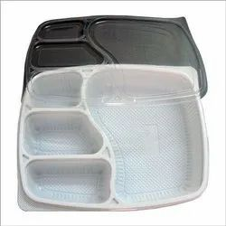 4 Compartment Disposable Food Tray