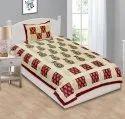 Jaipuri Single Bedsheet Cotton Paisley Print