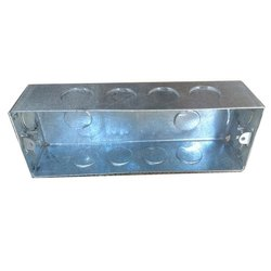 Rectangular GI 8 Way Modular Electrical Box, For Electric Fitting, Module Size: 8-module