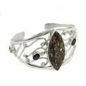 925 Sterling Silver Multi Stone Bangle