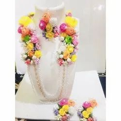 Artificial Multicolor Rose Flower Jewelry