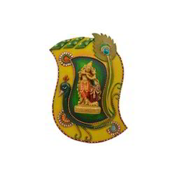 Wooden Paper Mache Morpankhi Radha Krishna