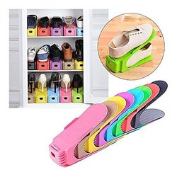 Space-Saving Plastic Storage Shoes Organizer
