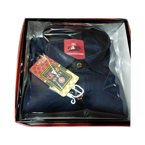 Mens Denim Navy Blue Shirt, Size: S - XXL