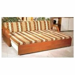 Indo Wood Wooden Sofa Bed, For Home