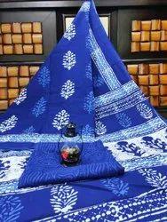 D.S. Bandhani Digital Print Stylist Cotton Saree, With Blouse Piece, 5.5 m (Separate Blouse Piece)