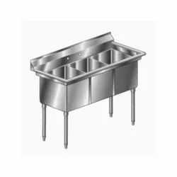 Three Ready To Mount Steel Kitchen Sink, Size: 2.5-3 Feet