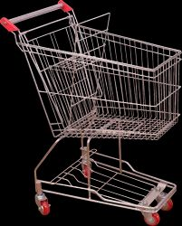 Supermarket Trolley and Basket
