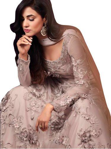 4633ca3e77b Lavender Pastel Blush Lehenga Style Partywear Dress