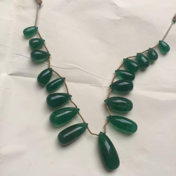 Emerald Drops Bead Necklace