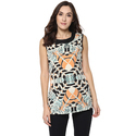 Ladies Sleeveless Printed Top, Size: S, M & L