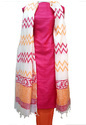 Printed Party Wear Pure Tussar Silk Dress Material