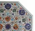 Marble Stone Inlaid Coffee Table Top Malachite And Lapiz