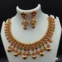 High Gold Plated Copper Jewellery Set NK 1620