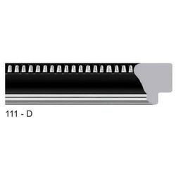 111-D Series Synthetic Black Photo Frame Molding